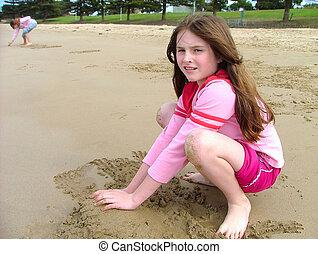 sable, jouer
