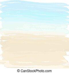 sable, océan