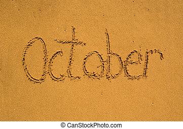 sable, octobre, mois