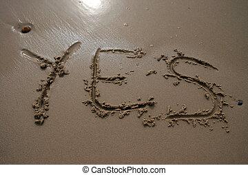 sable, -, oui, écriture