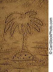 sable, paume, dessin