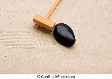 sable, râteau