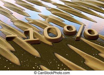 sable, réduction, cent, écrit, dix