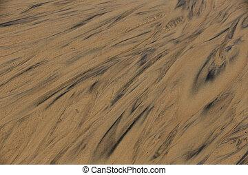 sable, texture., fond, nature