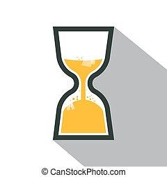 sable, vecteur, retro, horloge, icône