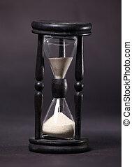 sable-verre, à, écoulement, sable, prîmes, fin