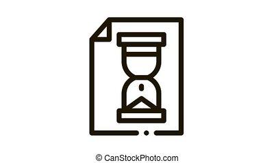 sablier, icône, fichier, élément, animation, agile, sandglass