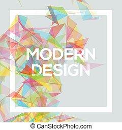 sablon, homály, geometriai, nodes., áttetsző, poszter, tervezés, connecting, vektor, friss, poligonok, megvonalaz