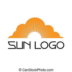 sablon, nap, jel, állhatatos, ikon, vektor