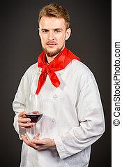 saboreo, vino rojo