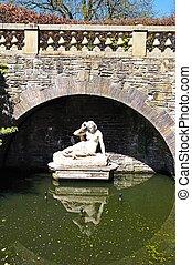 sabrina, statue, park, shrewsbury.
