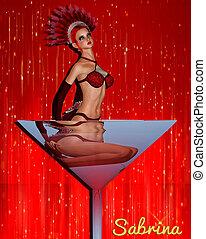 sabrina's, martini