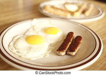sabroso, comensal, desayuno
