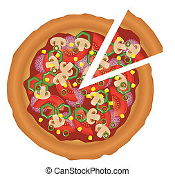 sabroso, pizza