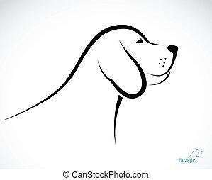 sabueso, imagen, vector, perro