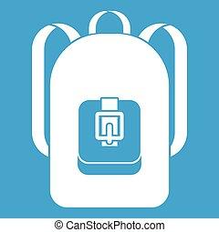 sac à dos, blanc, icône