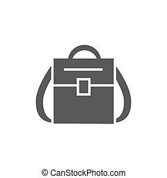 sac à dos, fond blanc, icône