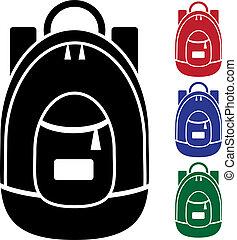 sac à dos, icône