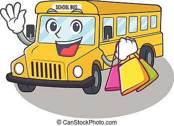 sac à provisions, onduler, tenue, amical, riche, autobus, école