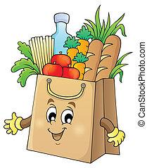 sac à provisions, thème, image, 1
