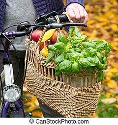 sac à provisions, vélo