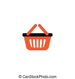 sac à provisions, vecteur, conception, gabarit, orange, logo, vente au détail