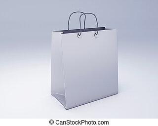 sac, achats, 3d