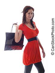 sac, achats, femmes