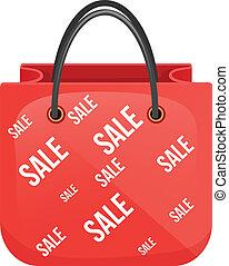 sac, achats, icône