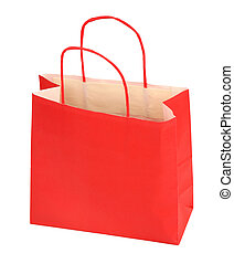 sac, achats, rouges