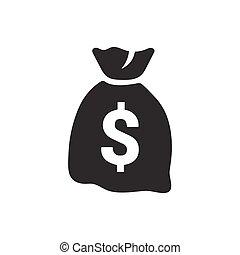 sac argent, icône