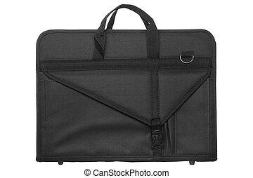 sac, artiste, nylon, portefeuille