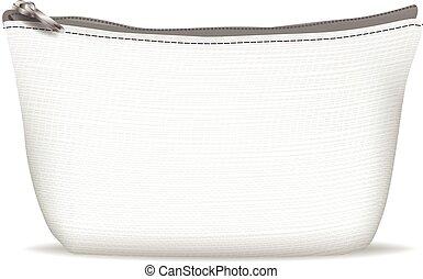 sac, blanc, cosmétique