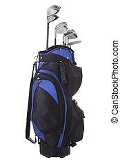 sac, clubs, golf, isolé