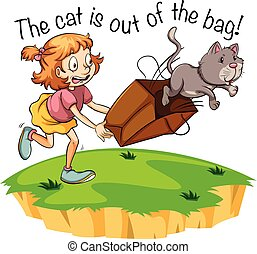 sac, dehors, chat