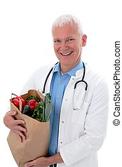 sac, docteur, légumes
