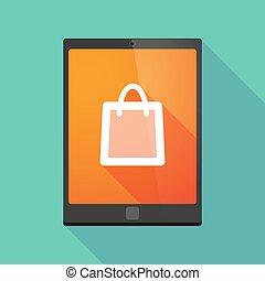 sac, icône, achats, pc tablette