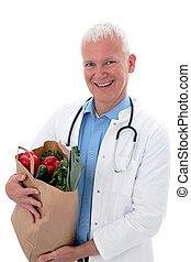 sac, légumes, docteur