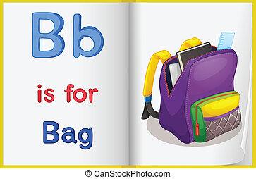 sac, livre scolaire