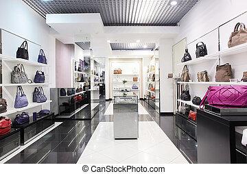 sac, luxe, magasin, européen
