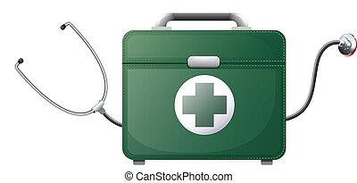 sac, monde médical, stéthoscope