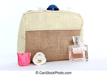sac, naturel, cosmétique, jute