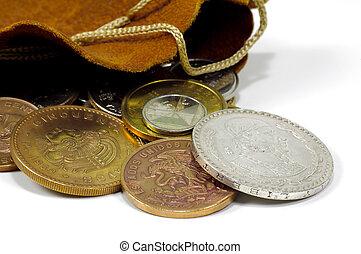 sac, pièces