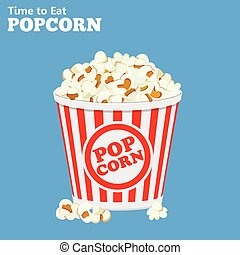 sac, pop-corn, entiers, papier