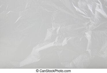 sac, résumé, fond, plastique