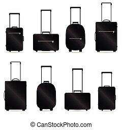 sac, vecteur, voyager, illustration
