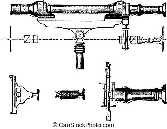 Saccharimeter, vintage engraving.