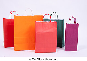 sacchi carta, shopping