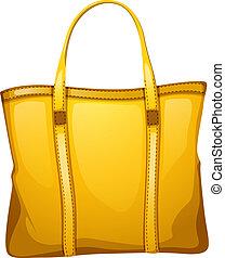 sacco cuoio, giallo