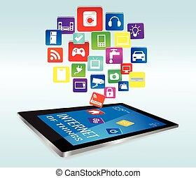 sachen, apps, tablette, internet